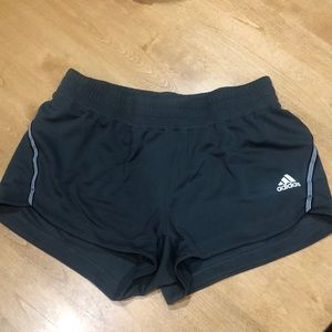 Adidas brand, climalite grey running shorts